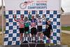 Mens 65-69 2 km TT Podium - L to R - Mike Macdonald, Leo Menestrina, John McQuaide, David Trousdale and John Forbes