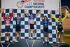 Mens 45-49 Points Race Podium - L to R - Brett Clare, Darin Marhanka, Steven Carrell, Robert Bodamer and Curtis Tolson
