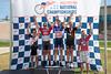 Mens 45-49 3km TT Podium - L to R - Steven Carrell, Brett Clare, Chris Carlson, Victor Williams and Darin Marhanka