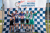 Mens 40-44 3km TT Podium - L to R - Tony Scott, Michael Miller, Daniel Casper, Jack Stepczynski and David Klipper