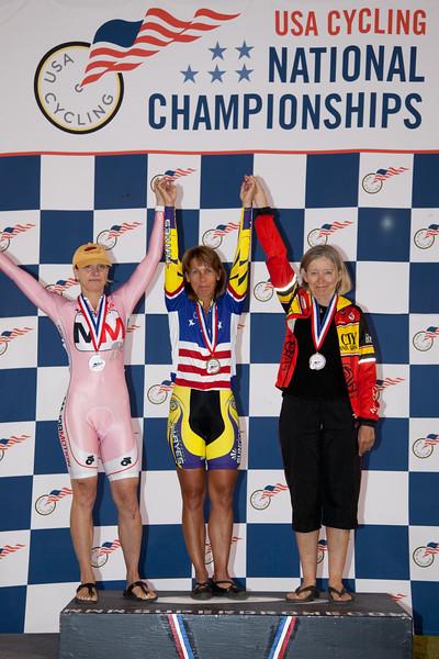 Women 55-59 Sprint Podium - L to R - Melanie Peterson, Rita Kacala and Barbara Thiele