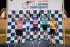 Mens 65-69 Points Race Podium - L to R - Mike Macdonald, James Kinsinger, John Forbes, Leo Menestrina and Wallace Swanson