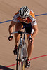 Walter Megura powers out of turn four during his flying 200m time trial.