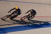 Brian Abers shadows Kirk Whiteman through turns three and four during their sprint matchup.