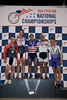 Mens 40-44 Sprint Podium - L to R - Thomas Valentine, Andrew Weathers, Nelson Li, Roger Hernandez and Michael Paulin