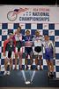 Mens 40-44 Sprint Podium - L to R - Thomas Valentine, Andrew Weathers, Nelson Li, Roger Hernandez and Michael Paulin