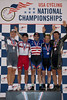 Mens 34-39 Sprint Podium - L to R - Guy Tucker, Kevin Kremke, Jason Meidhof, Chris Kutach and Thomas Cuneio