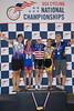 Womens Sprints 45-49 Podium - L to R - Janet Lischer, Annette Williams, Cj Boyenger, Tara Unverzagt and Pamela Jackson