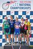 Men's 70-74 500m TT Podium - L to R - Jim Turner, Skip Sparry, James Kloss, J Beck and William Barnes