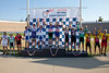 Men's 60+ Team Sprint Podium - Teams L to R - Team Mike Howard, Vic's Hammer, Team 1 More Time, 3 Old Dudes and Saguaro Velo