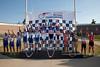 Men's 40+ Team Sprint Podium - Teams L to R - Hammer Racing Team, Team Alliance, Eddie's Boys, MNFL Express and Team Hellyer