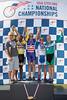 Mens's 65-69 500m TT Podium - L to R - James Kinsinger, Earl Henry, James Murdock, James Kinsinger, and Leo Menestrina