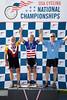 Men's 75-79 500m TT Podium - L to R - Richard Simons, Thomas O'Rourke and ???