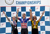 Women's 30-34 500m TT Podium - L to R - Beth Butrymowicz, Linsey Hamilton and Rebecca Bradley