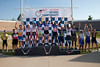 Men's 30+ Team Sprint Podium - Teams L to R - Team Reed, Austin Momentum, River City Affinity, Southwest Bikes and Hammer Racing Team
