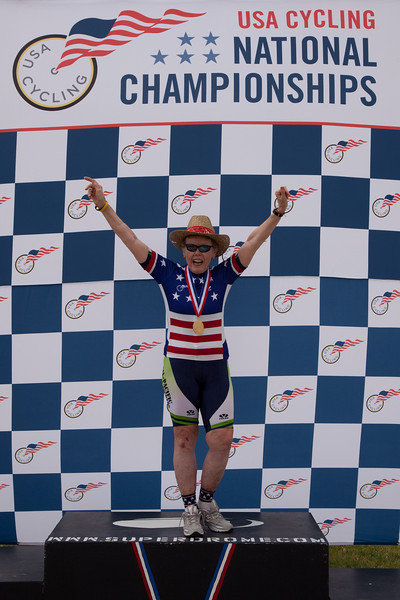 Womans 70-74 2km TT Podium - Patricia Baker
