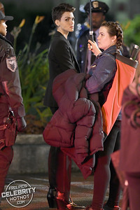 Kate Kane AKA Batwoman Played by Ruby Rose Filming Season 1 In Vancouver