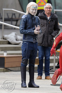 Brainiac Holds A Wire Detonator During Filming In Vancouver, Canada