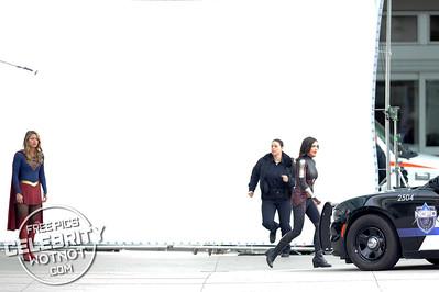 Melissa Benoist & Amy Jackson Back Filming Supergirl