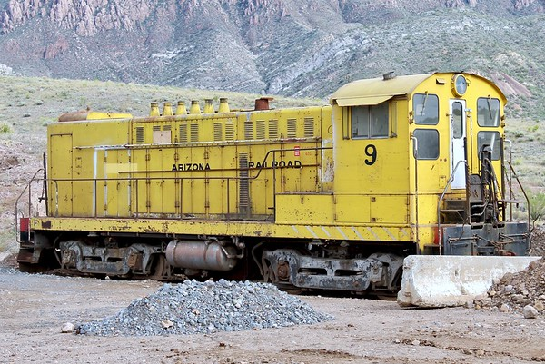 Historic locomotive Number 9 from the Magma Arizona Railroad (2018)