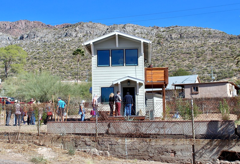 "Visitors queue up to tour ""The Desert Rose"" as part of the 10th Annual Home & Building Tour (2018)"