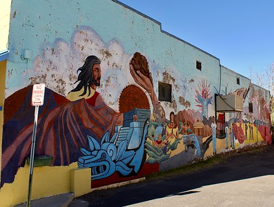Mural along Main Street - 2017
