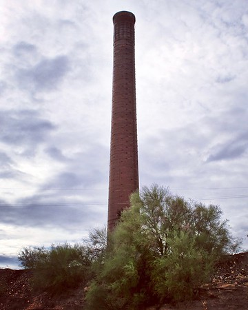 Smokestack from the historic Magma Smelter (2018)