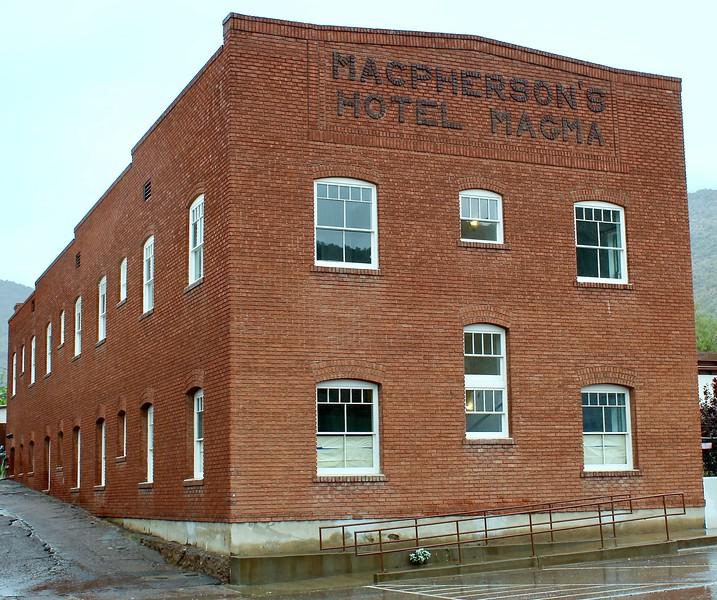 Restored Magma Hotel addition (2018)