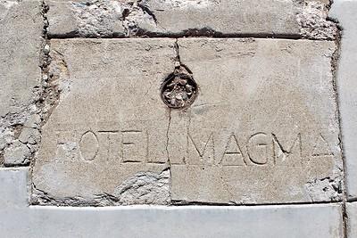 Hotel Magma sidewalk marker - 2017