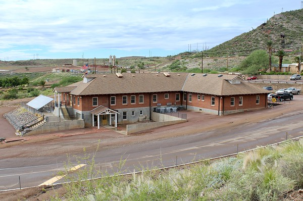 Historic hospital building at the Magma Mine (2018)