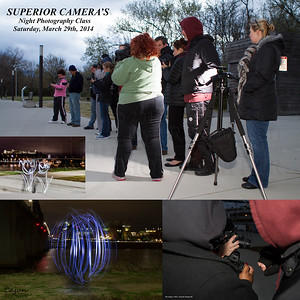 Superior Camera's Night Photography Class Saturday March 29th, 2014. Chattanooga Tn. Photography By: Lloyd R. Kenney III © 2014 All Rights Reserved. Contact Info: LloydKenneyiii@Gmail.com