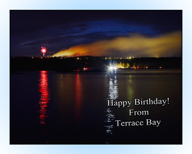 July 1st Fireworks, 2016, Lake Superior, Terrace Bay, Ontario, Canada