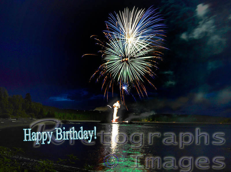Canada Day, Fireworks, Terrace Bay, Ontario, Canada, Rictographs Images
