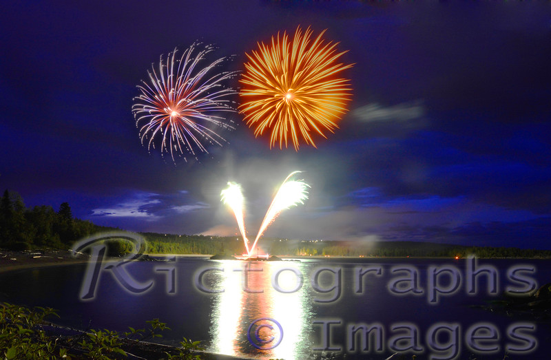 Terrace Bay, Fireworks, July 1st, Summer 2016, Rictographs Images