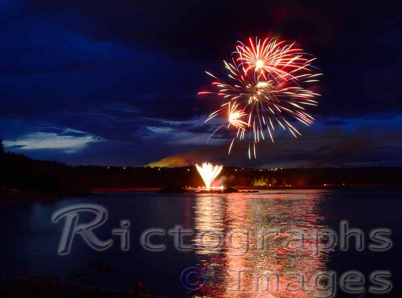 Summer 2016, Fireworks, Terrace Bay, Rictographs Images