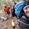 Tricky moving selfie hiking along the trail..