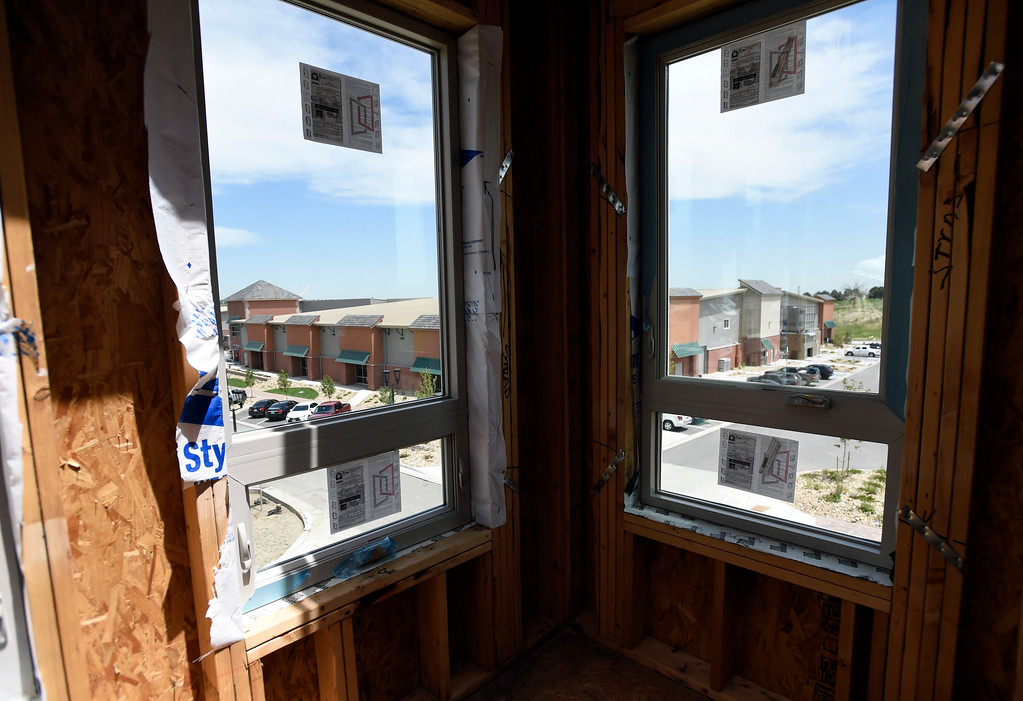 . The view of the Superior Sports Stable from the window of a newly constructed home during a site tour of the Superior Town Center on Thursday in Superior. For more photos of the construction go to www.dailycamera.com Jeremy Papasso/ Staff Photographer/ June 1, 2017