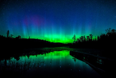 Canadian Border Aurora-Fall 2014.