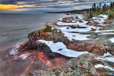 Red Rock is located a few miles south of Grand Portage MN on highway 61.
