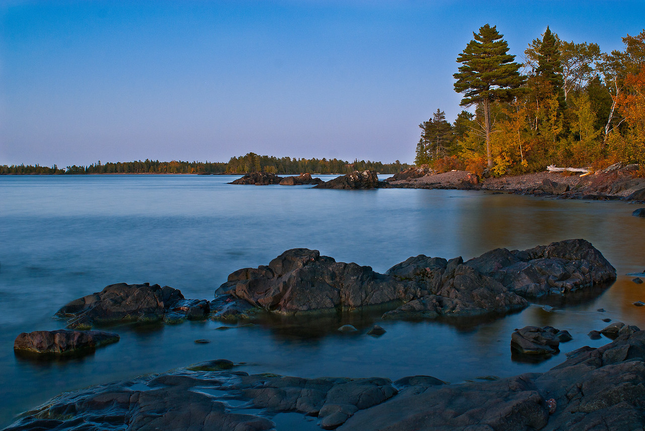 Keweenaw Peninsula, West Side at twilight, UP Michigan
