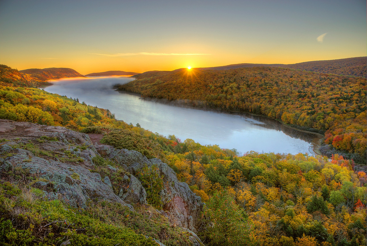 Lake of the Clouds Sunrise, Porcupine Mountains State Park, Michigan