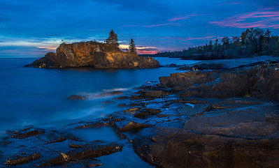 Hollow Rock sunset- Grand Portage MN.
