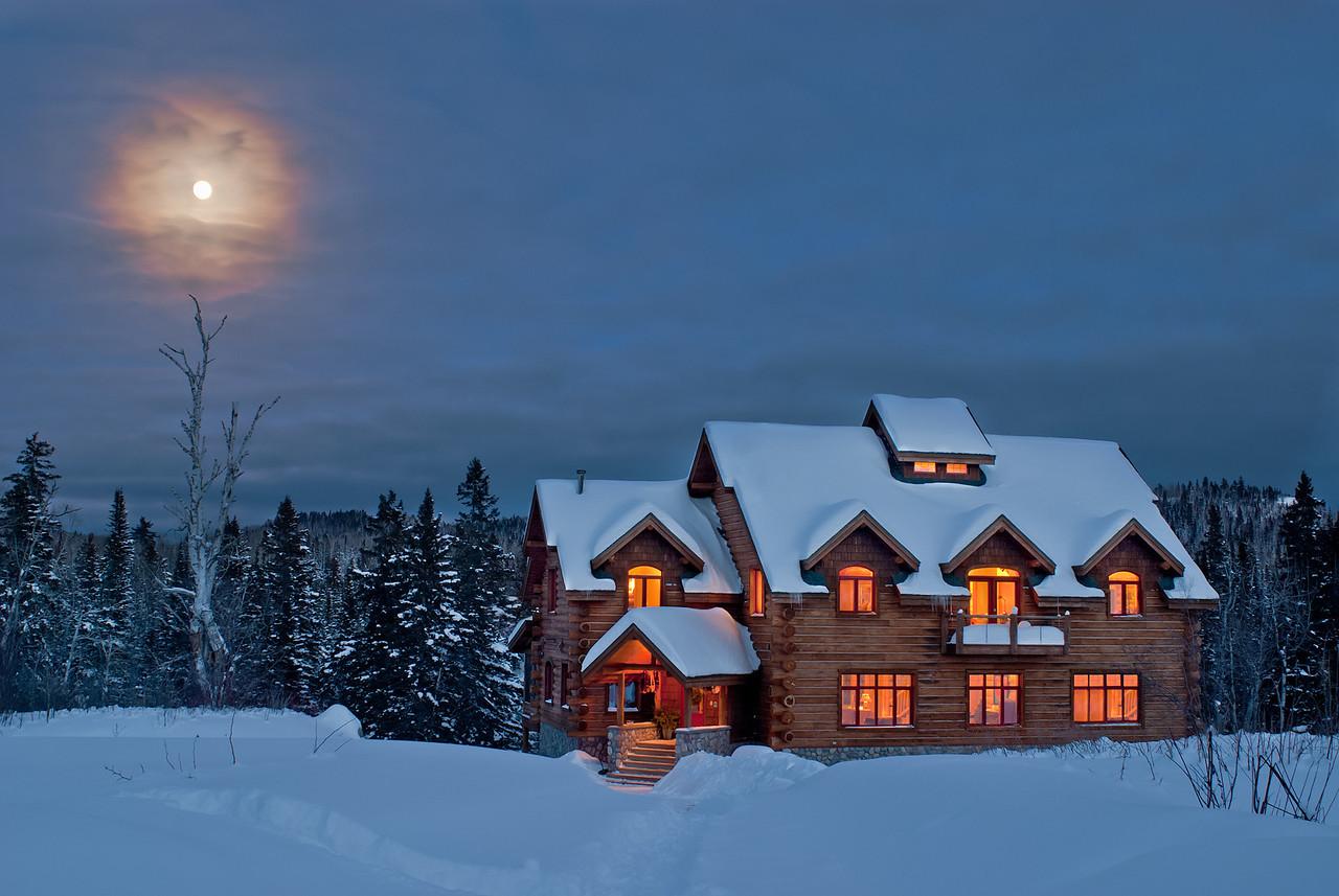 Baptisim River Bed & Breakfast under a Jan. Full Moon---