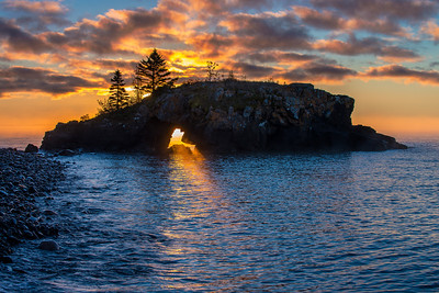 Hollow Rock sunrise- Grand Portage MN