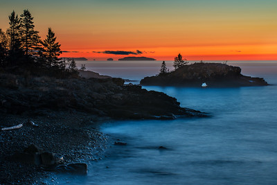 Hollow Rock 30 minutes before sunrise- Grand Portage MN