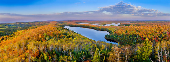 View from the fire tower on Mount Sophie near Grand Portage MN---
