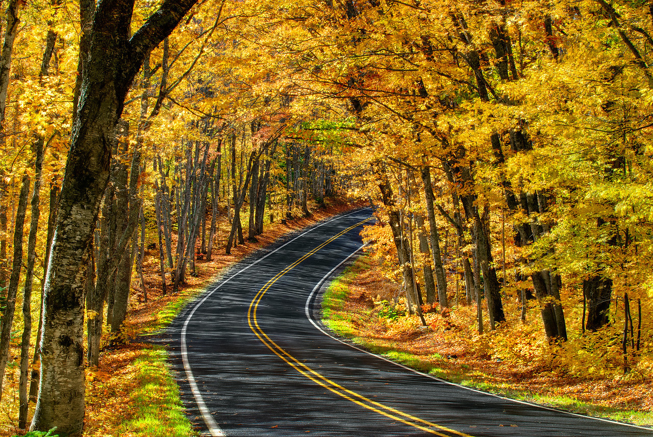 Highway 41 to Copper Harbor, Keweenaw Peninsula, Michigan