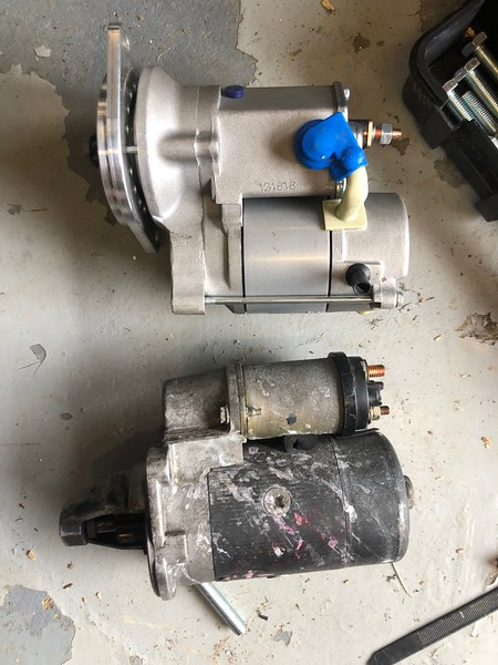 Old Lucus starter motor ( 21 years  old ) replaced by Brice
