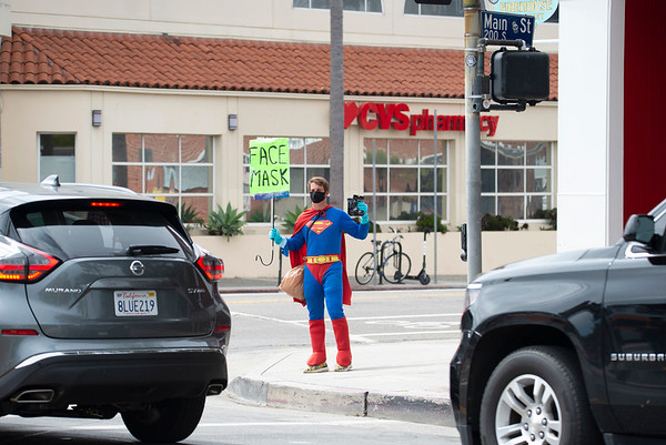 Superman Flies to Help Los Angeles