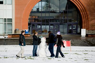 snowy campus scenes